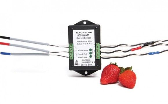 Three-Phase Rogowski Coil Current Sensor, AC Input > 4-20 mA DC Output MGS-1800